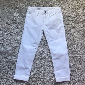 Straight white jeans from Gap